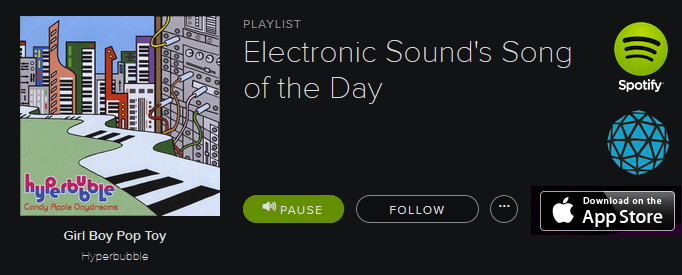 Electronic Sound - Hyperbubble = Song of the Day