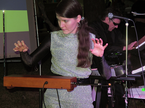 Jess plays the theremin